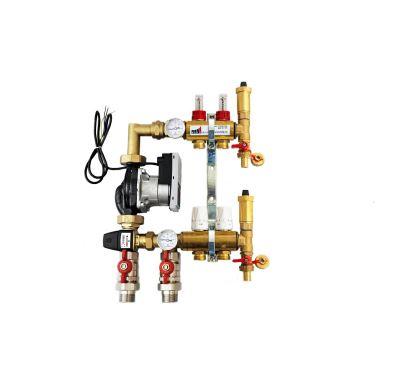 KIIPTHERM PROFI 5 -  2 okruhy, rozdělovač podlahového vytápění s čerpadlem, směšováním, hlavice a průtokom.