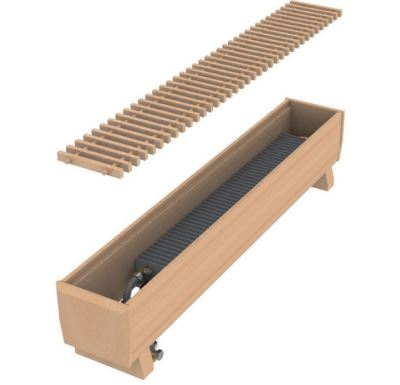 MINIB Podlahový konvektor COIL-DP 1000 mm Bez ventilátoru, včetně mřížky