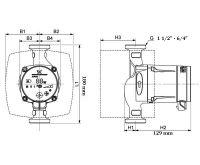 GRUNDFOS ALPHA2  25-40 - 180 mm Čerpadlo pro topení