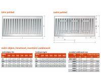 Radiátor Klasik 11-300/1000 - PURMO