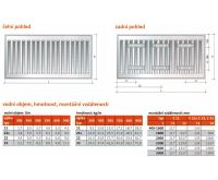 Radiátor Klasik 11-300/1100 - PURMO