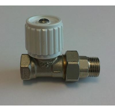 """Ruční radiátorový ventil přímý DN15-1/2"""" s ucpávkou"""