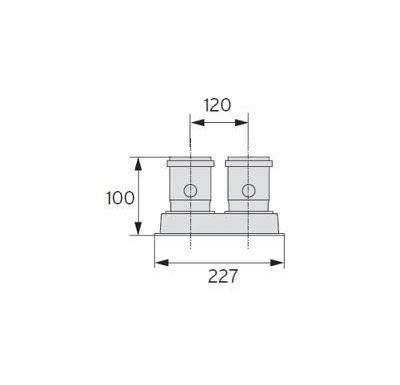 Vaillant Připojovací paralelní adaptér, O 80/80 mm