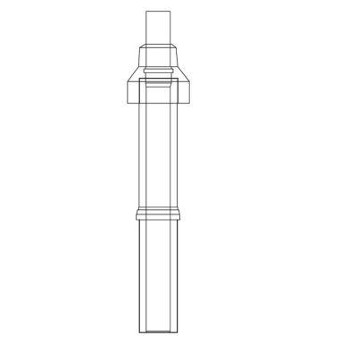 ALMEVA LIK/LIL střešní nástavec 1100mm 60/100 černá