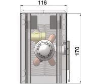 MINIB Nástěnný konvektor COIL-NU-1 1000 mm Bez ventilátoru