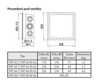 BOKI Trafo podomítkové PAT-02-T-02 s možností přepínání otáček mechanickým termostatem