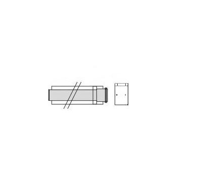 Vaillant Prodluž. kus odkouření 1,0m, O80/125mm