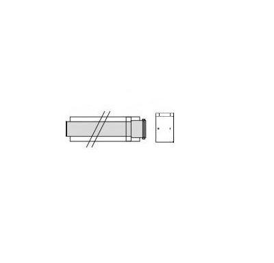 Vaillant Prodlužovací kus odkouření 2,0m, 80/125 mm