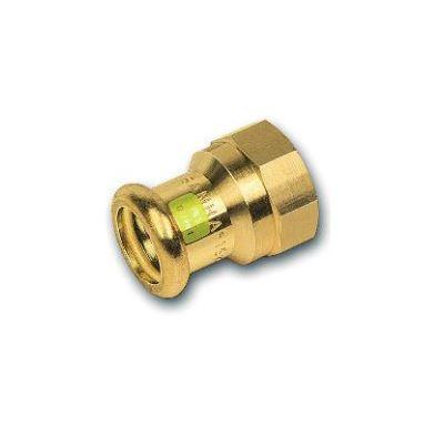 """CU lisovací přechod 8270 - 22 x  3/4"""" závit vnitřní - pro topení i rozvod plynu"""