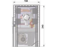 MINIB Nástěnný konvektor COIL-NK PTG  1500mm S ventilátorem
