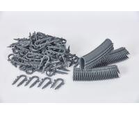 KIIPTHERM Příchytka plastová zapichávací  45 mm šedá pro TACKER