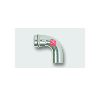 C-STEEL lisovací koleno MxF 90° - 88,9 vnitřní - vnější, uhlíková ocel