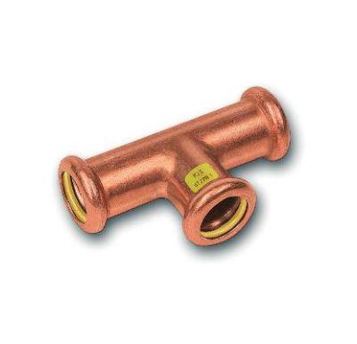 CU lisovací T-kus redukovaný  9131 - 28 x 22 x 22 - pro topení i rozvod plynu