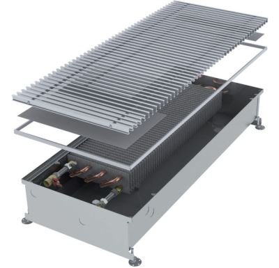 MINIB Podlahový konvektor COIL-PT  1750 mm Bez ventilátoru, mřížka 292 mm