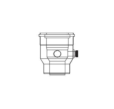 ALMEVA LIK kotlová redukce - kotel 60/100 na 80/125 s 2 měřícími otvory