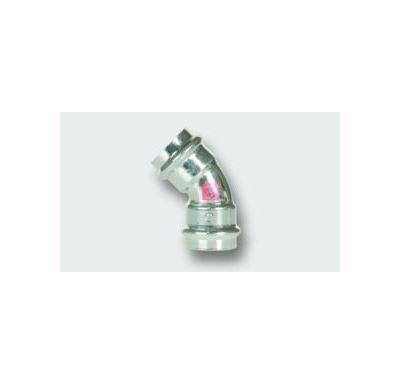 C-STEEL lisovací koleno FxF 45° - 15 vnitřní - vnitřní, uhlíková ocel