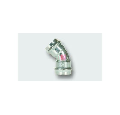 C-STEEL lisovací koleno FxF 45° - 88,9 vnitřní - vnitřní, uhlíková ocel