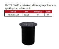 OSMA kanalizační šachta 315x1000 mm průchozí KG 160 poklop teleskopický plný - 40t