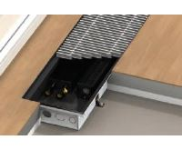 BOKI InFloor Podlahový konvektor F1T  90/290-1400mm - pozink S ventilátorem