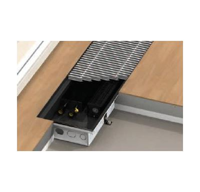 BOKI InFloor Podlahový konvektor F1T 140/260-6500mm - pozink S ventilátorem