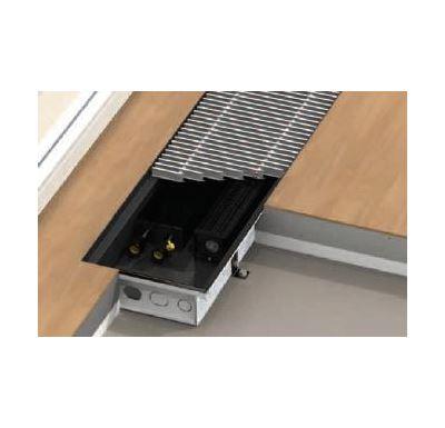 BOKI InFloor Podlahový konvektor F1T  90/290-4500mm - pozink S ventilátorem