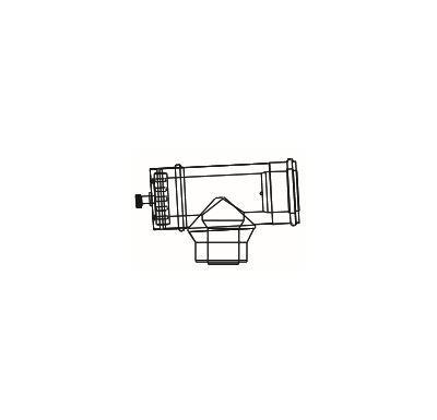 ALMEVA LIK revizní T-kus s měřícím otvorem redukovaný 80/126 - DN60/100
