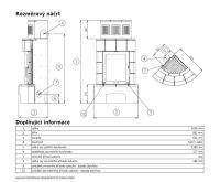ABX Normandie Bordó - Kachlová kamna rohová | AKCE kazeta značkového vína