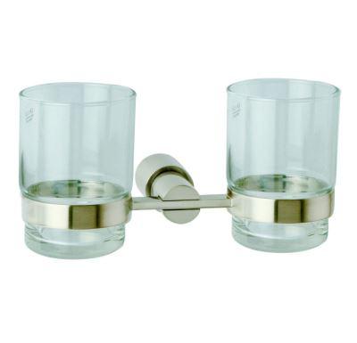 FARGO-dvojitý držák kartáčků-nikl/sklo
