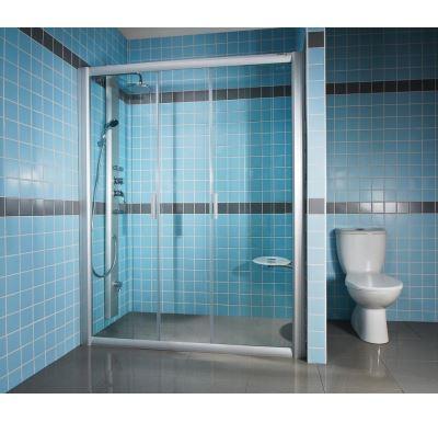 RAVAK Sprchové dveře Rapier NRDP4-150 satin+transparent