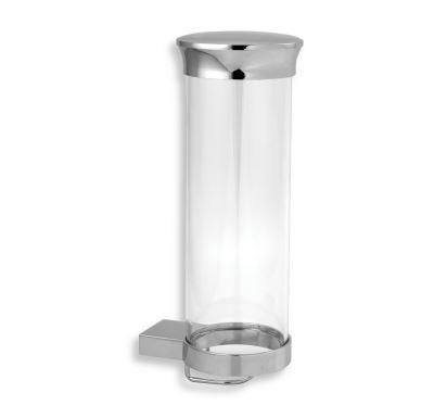 NOVASERVIS Zásobník na kosmetické tampony sklo  Metalia 9 chrom - 0972,0