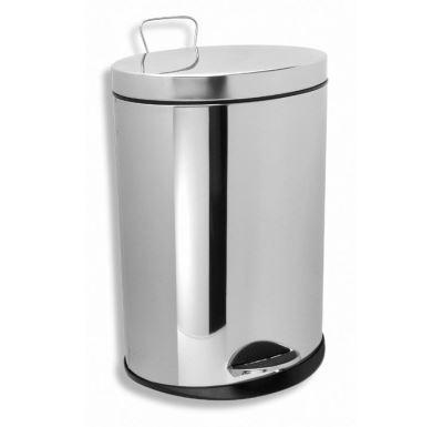 NOVASERVIS Odpadkový koš kulatý 12 l chrom - 6161,0