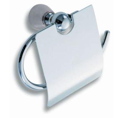 NOVASERVIS Závěs toaletního papíru s krytem  Metalia 3 satino - 6338,9