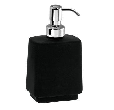 NOVASERVIS Dávkovač mýdla na postavení  Metalia 4 černá-chrom - 6450/1,5