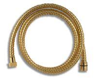 NOVASERVIS Sprchová hadice plastová 150 cm zlato - SPIRAL/150,ZL